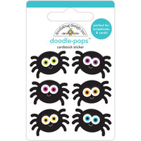 Doodlebug Design - Halloween - Candy Carnival Collection - Doodle-Pops - 3 Dimensional Cardstock Stickers - Silly Spiders