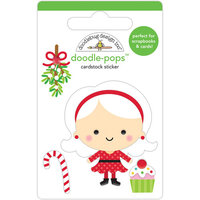 Doodlebug Design - Christmas Magic Collection - Doodle-Pops - 3 Dimensional Cardstock Stickers - Mrs. Claus