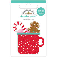 Doodlebug Design - Christmas Magic Collection - Doodle-Pops - 3 Dimensional Cardstock Stickers - Hot Cocoa