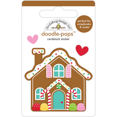Doodlebug Design - Christmas Magic Collection - Doodle-Pops - 3 Dimensional Cardstock Stickers - Cookie Cottage