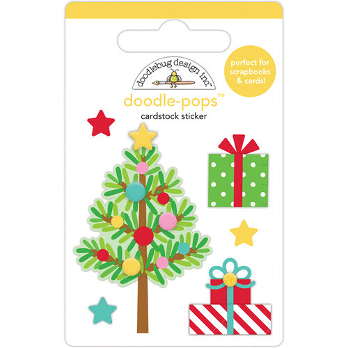 Doodlebug Design - Christmas Magic Collection - Doodle-Pops - 3 Dimensional Cardstock Stickers - Trim The Tree