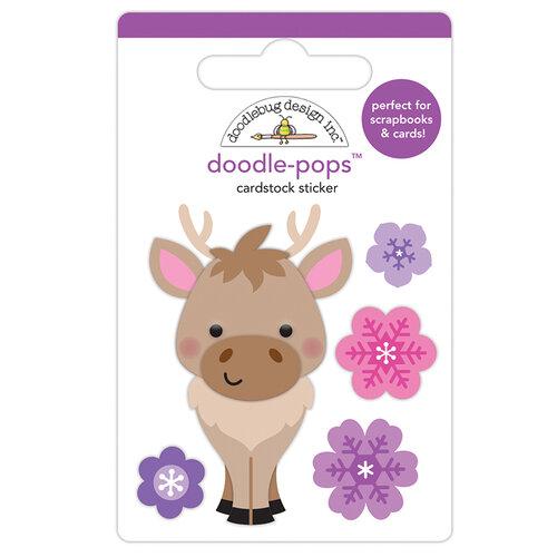 Doodlebug Design - Winter Wonderland Collection - Doodle-Pops - 3 Dimensional Cardstock Stickers - Hans