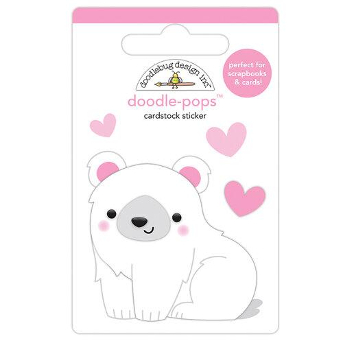 Doodlebug Design - Winter Wonderland Collection - Doodle-Pops - 3 Dimensional Cardstock Stickers - Polly