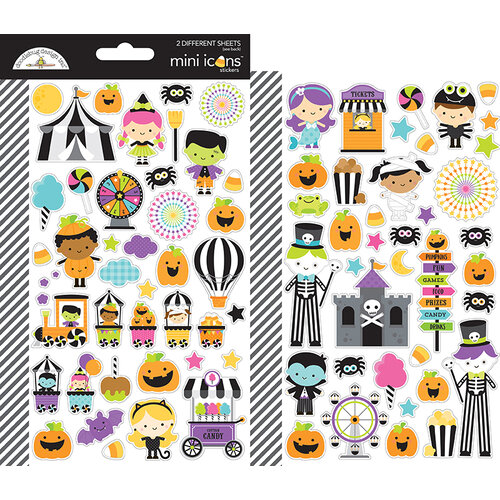 Doodlebug Design - Halloween - Candy Carnival Collection - Cardstock Stickers - Mini Icons