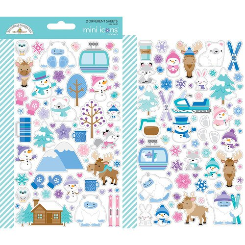 Doodlebug Design - Winter Wonderland Collection - Cardstock Stickers - Mini Icons