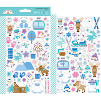 Doodlebug Design - Winter Wonderland Collection - Cardstock Stickers - Mini Icons