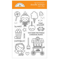 Doodlebug Design - Halloween - Candy Carnival Collection - Clear Photopolymer Stamps - Trick Or Treat