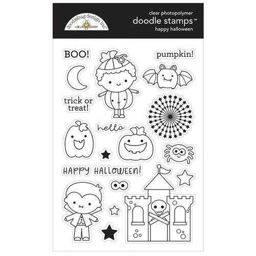Doodlebug Design - Candy Carnival Collection - Clear Photopolymer Stamps - Happy Halloween