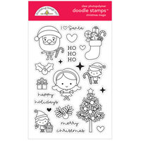 Doodlebug Design - Christmas Magic Collection - Clear Photopolymer Stamps
