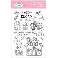 Doodlebug Design - Christmas Magic Collection - Clear Photopolymer Stamps - Santa's Sweets