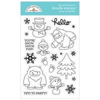 Doodlebug Design - Winter Wonderland Collection - Clear Photopolymer Stamps