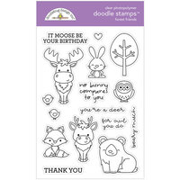 Doodlebug Design - Winter Wonderland Collection - Clear Photopolymer Stamps - Forest Friends