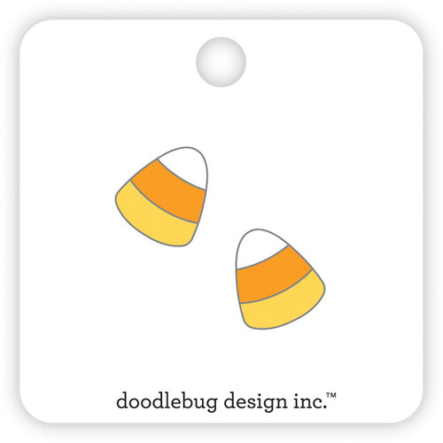 Doodlebug Design - Candy Carnival Collection - Collectible Pins - Candy Corn