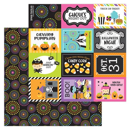 Doodlebug Design - Halloween - Candy Carnival Collection - 12 x 12 Double-Sided Paper - Spook-tacular
