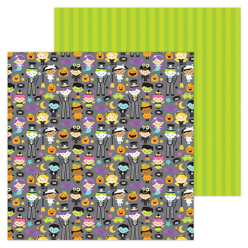 Doodlebug Design - Halloween - Candy Carnival Collection - 12 x 12 Double-Sided Paper - Costume Contest