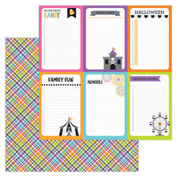 Doodlebug Design - Halloween - Candy Carnival Collection - 12 x 12 Double-Sided Paper - Prize Wheel