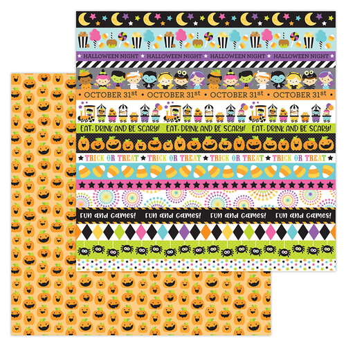 Doodlebug Design - Halloween - Candy Carnival Collection - 12 x 12 Double-Sided Paper - Carving Contest