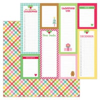 Doodlebug Design - Christmas Magic Collection - 12 x 12 Double Sided Paper - Plaidsome Tidings