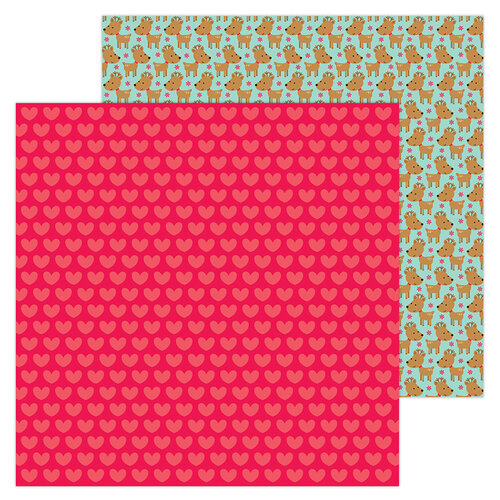 Doodlebug Design - Christmas Magic Collection - 12 x 12 Double Sided Paper - Christmas Love