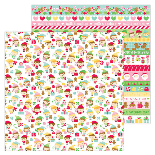 Doodlebug Design - Christmas Magic Collection - 12 x 12 Double Sided Paper - Little Helpers