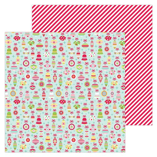 Doodlebug Design - Christmas Magic Collection - 12 x 12 Double Sided Paper - Deck The Halls