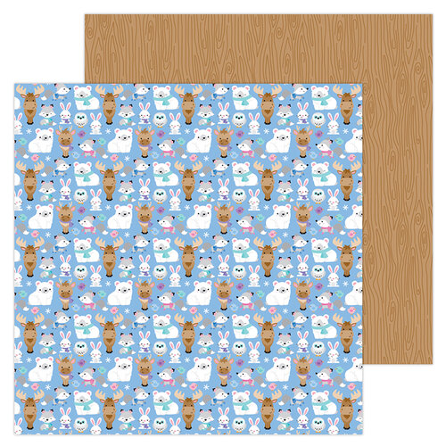 Doodlebug Design - Winter Wonderland Collection - 12 x 12 Double Sided Paper - Snow Cozy