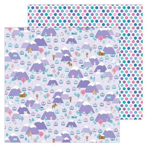 Doodlebug Design - Winter Wonderland Collection - 12 x 12 Double Sided Paper - Hit The Slopes