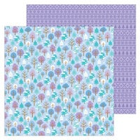 Doodlebug Design - Winter Wonderland Collection - 12 x 12 Double Sided Paper - Frosted Forest