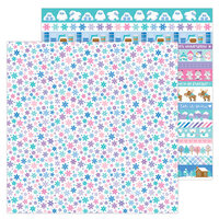 Doodlebug Design - Winter Wonderland Collection - 12 x 12 Double Sided Paper - Snow Wonder