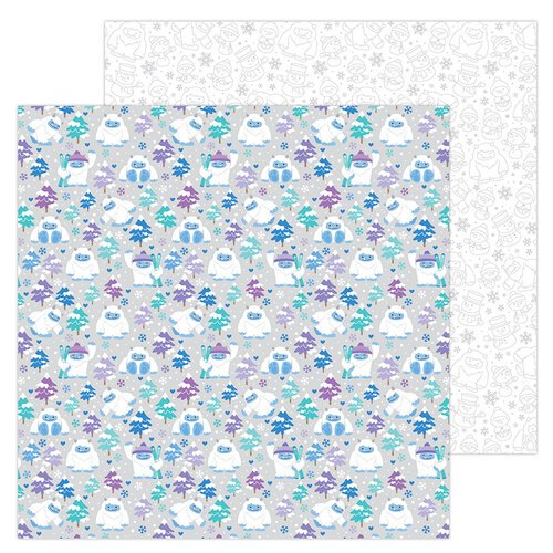 Doodlebug Design - Winter Wonderland Collection - 12 x 12 Double Sided Paper - Yeti For Winter