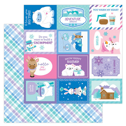 Doodlebug Design - Winter Wonderland Collection - 12 x 12 Double Sided Paper - Cozy Cardigan
