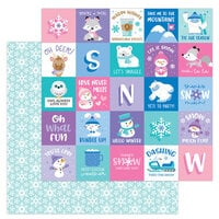 Doodlebug Design - Winter Wonderland Collection - 12 x 12 Double Sided Paper - Snow Much Fun