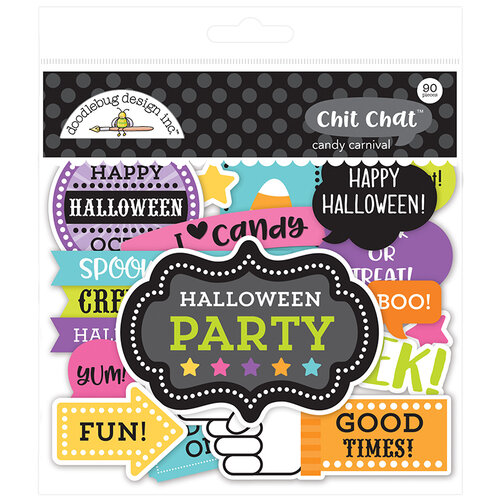 Doodlebug Design - Halloween - Candy Carnival Collection - Chit Chat - Die Cut Cardstock Pieces