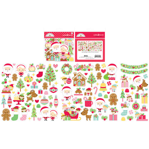 Doodlebug Design - Christmas Magic Collection - Odds and Ends - Die Cut Cardstock Pieces