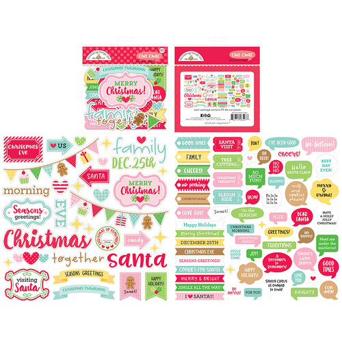 Doodlebug Design - Christmas Magic Collection - Chit Chat - Die Cut Cardstock Pieces