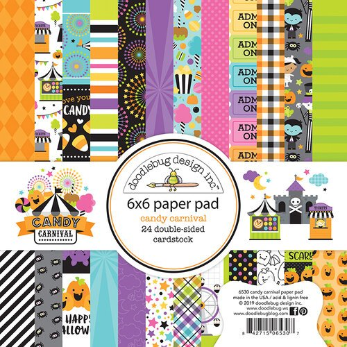 Doodlebug Design - Halloween - Candy Carnival Collection - 6 x 6 Paper Pad