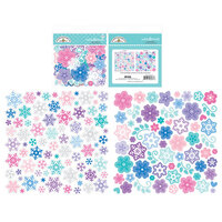 Doodlebug Design - Winter Wonderland Collection - Odds and Ends - Die Cut Cardstock Pieces - Snowflakes
