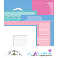 Doodlebug Design - Winter Wonderland Collection - Cards and Envelopes