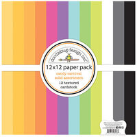 Doodlebug Design - Candy Carnival Collection - 12 x 12 Paper Pack - Textured Cardstock Assortment