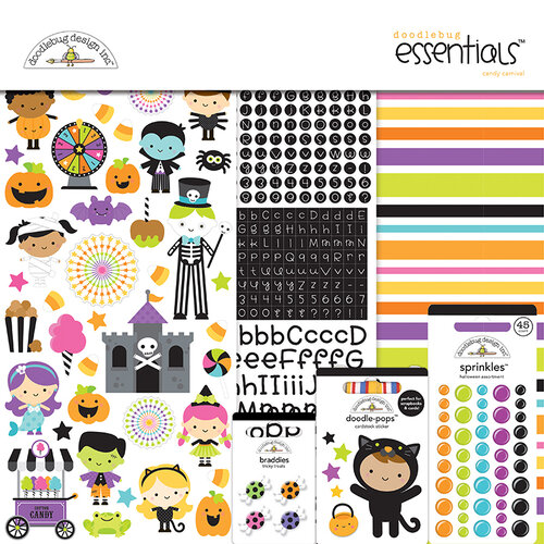 Doodlebug Design - Halloween - Candy Carnival Collection - Essentials Kit
