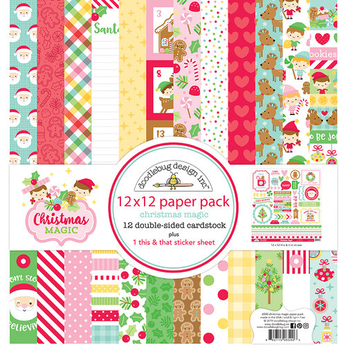 Doodlebug Design - Christmas Magic Collection - 12 x 12 Paper Pack