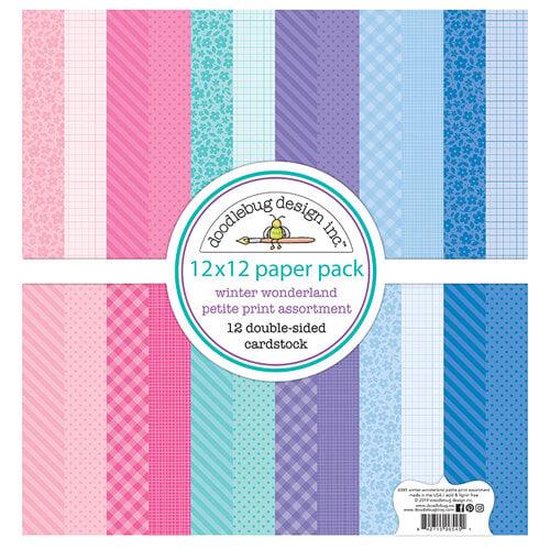 Doodlebug Design - Winter Wonderland Collection - 12 x 12 Paper Pack - Petite Print Assortment