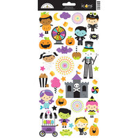 Doodlebug Design - Halloween - Candy Carnival Collection - Cardstock Stickers - Icons