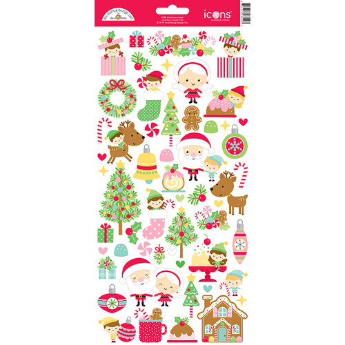 Doodlebug Design - Christmas Magic Collection - Cardstock Stickers - Icons