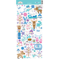 Doodlebug Design - Winter Wonderland Collection - Cardstock Stickers - Icons