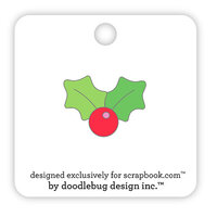 Doodlebug Design - Collectible Pins - Holly Berry
