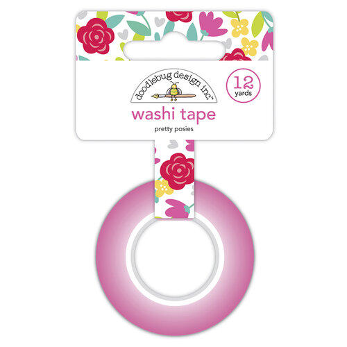 Doodlebug Design - Love Notes Collection - Washi Tape - Pretty Posies