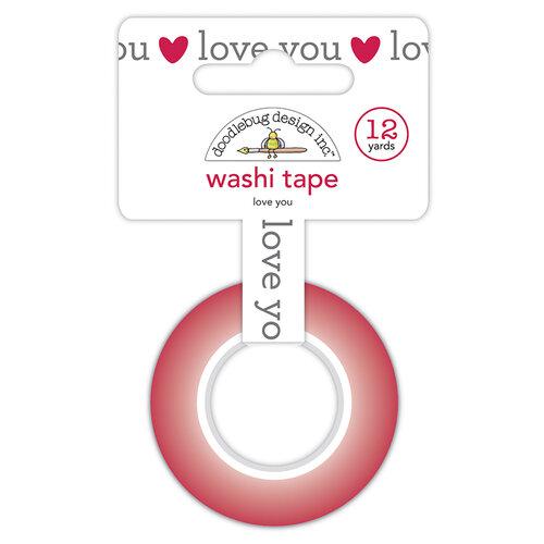 Doodlebug Design - Love Notes Collection - Washi Tape - Love You
