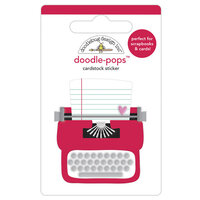 Doodlebug Design - Love Notes Collection - Doodle-Pops - 3 Dimensional Cardstock Stickers - Love Story
