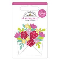 Doodlebug Design - Love Notes Collection - Doodle-Pops - 3 Dimensional Cardstock Stickers - Sending Love